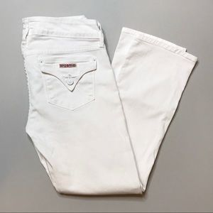 Hudson Beth Baby Boot Crop Jeans in White sz 28